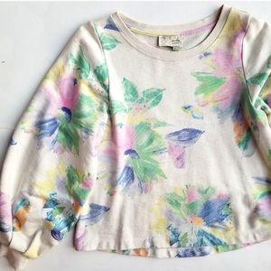 Saturday Sunday Anthropologie Floral Sweatshirt